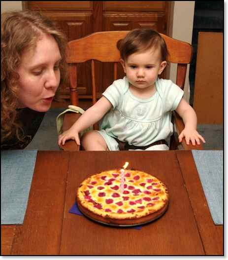 very first birthday cake, a raspberry tort. Home |; Miah - 1 Year Old |
